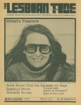 """Kate Millett on the cover of """"The Lesbian Tide"""""""