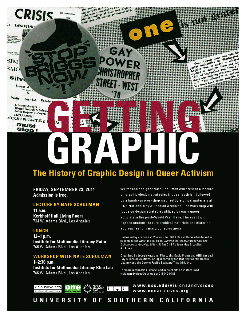Workshop on Graphic Design and Queer Activism for USC